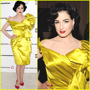 Dita Von Teese Is Oscar Party Pretty