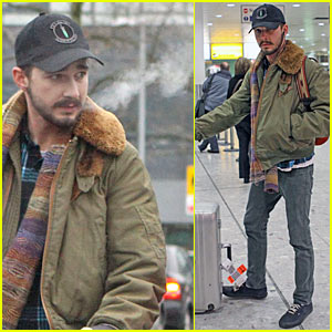 Shia LaBeouf Runs Into Paul McCartney