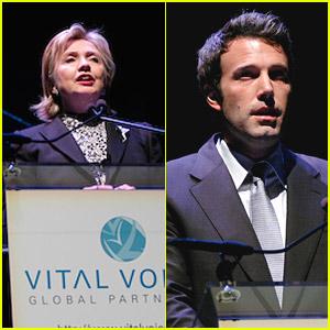 Ben Affleck Honors Hillary Clinton As A Vital Voice
