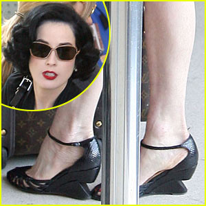 Dita Von Teese is a Wedge Woman