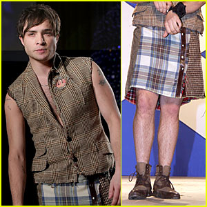 Ed Westwick is Dressed to Kilt