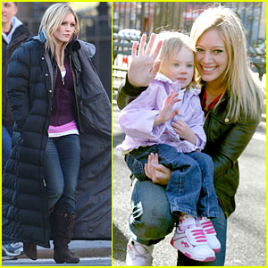 Hilary Duff Shoots Law & Order: SVU
