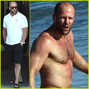 Jason Statham Cools It Off