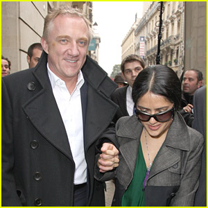Salma Hayek Finds Fashion In Paris