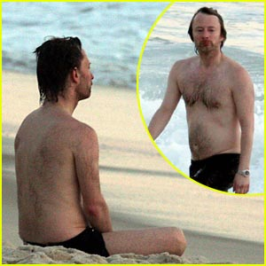 Thom Yorke is Shirtless