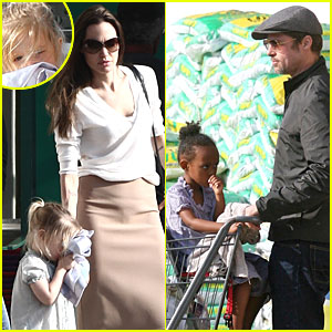 Brad Pitt & Angelina Jolie: Stop and Shop