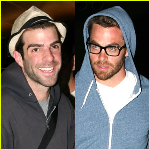 Chris Pine & Zachary Quinto Head Down Under