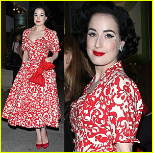 Dita Von Teese Celebrates Earth Day