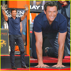 Hugh Jackman Has Huge Handprints