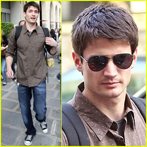 James Lafferty Promotes In Paris, Is Single