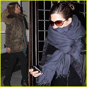 Jennifer Aniston Bundles Up