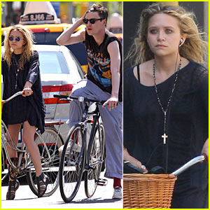 Mary-Kate Olsen & Nate Lowman: Bicycling Buddies