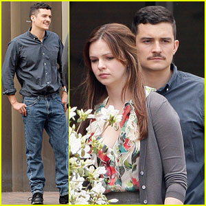 Orlando Bloom & Amber Tamblyn: Dinner Date