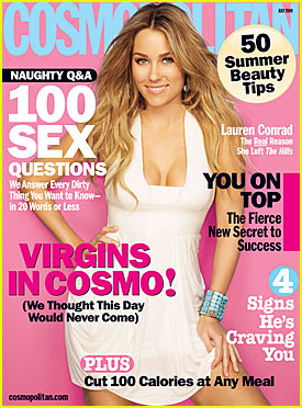Lauren Conrad Covers Cosmopolitan July 2009