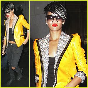 Rihanna's Yellow Jacket Jewels