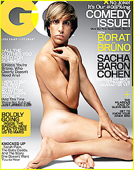 Bruno Covers 'GQ' Magazine July 2009