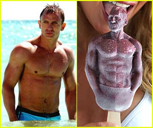 Daniel Craig Takes Ice Pop Form