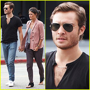 Ed Westwick &#038; Jessica Szohr: Belmont Buddies