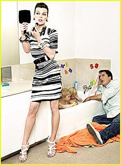 Chris Noth & Milla Jovovich Play House