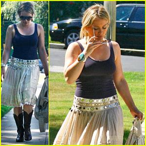 Hilary Duff Gets Shy and Shady
