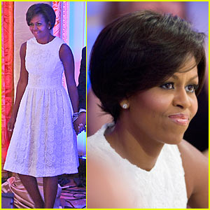 Michelle Obama Sports Short New Do
