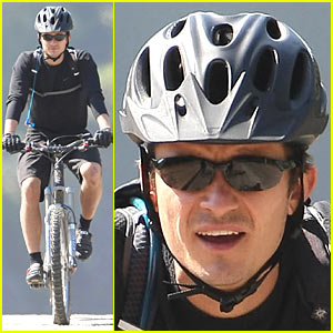 Orlando Bloom is a Mountain Biking Man