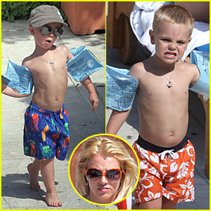Britney Spears' Sons Get New Buzz Cuts