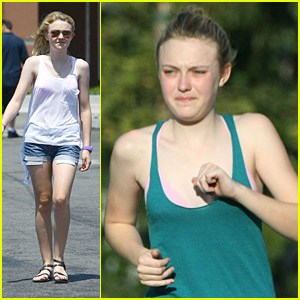 Dakota Fanning is a Jolly Jogger