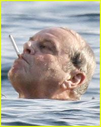 Jack Nicholson Smokes N' Snorkels
