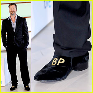 Brad Pitt Dons Monogrammed Shoes From Assistant
