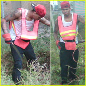 Chris Brown Begins Community Service