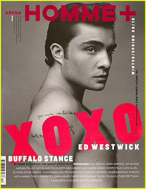 Ed Westwick: 'Arena Homme Plus' Cover Boy