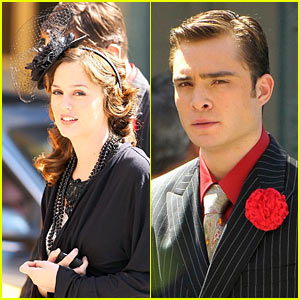 Leighton Meester & Ed Westwick Prepare On-Screen Chemistry