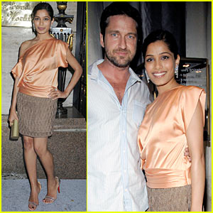 Freida Pinto & Gerard Butler: Harry Winston Wonderful