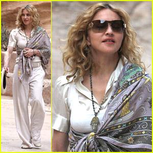 Madonna Visits Jordan's Petra Ruins