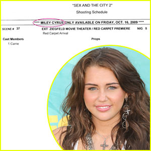 Miley Cyrus Joins Sex & The City 2?