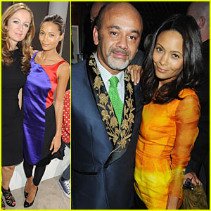 Thandie Newton: London Fashion Week Colorful