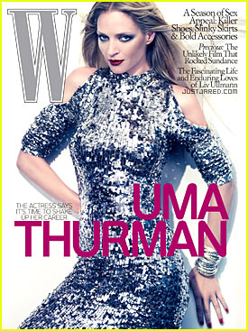 Uma Thurman Covers 'W Magazine' October 2009