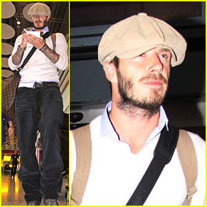 David Beckham is Heathrow Handsome
