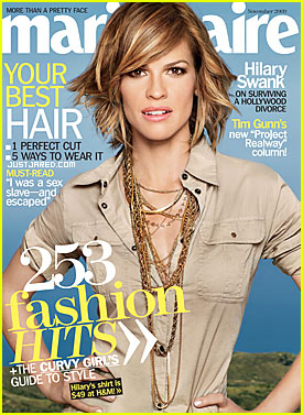 Hilary Swank Covers 'Marie Claire' November 2009