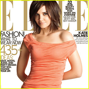 Katie Holmes Covers 'Elle' Magazine November 2009