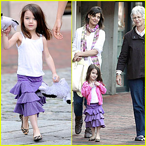 Katie Holmes & Suri Cruise Fall Into The Gap