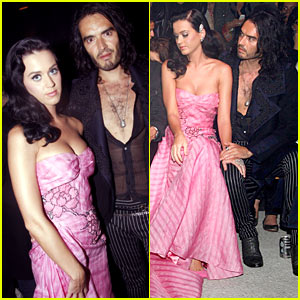 Katy Perry & Russell Brand Couple Up at John Galliano