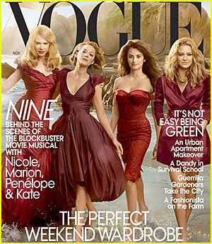 The Stars of 'Nine' Cover 'Vogue' November 2009