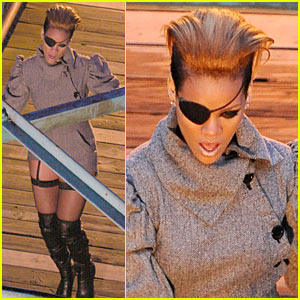 Rihanna Toughs It Out In Tweed