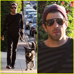 Zachary Quinto Walks His