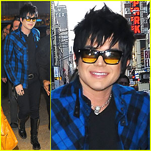 Adam Lambert Gets Plaid Pretty