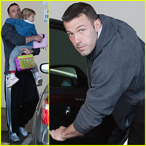 Ben Affleck Picks Violet Up From School - Literally!