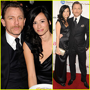 Daniel Craig & Satsuki Mitchell Supports Elton John's AIDS Foundation