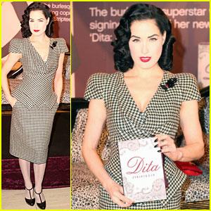 Dita Von Teese Does A Little Stripteese